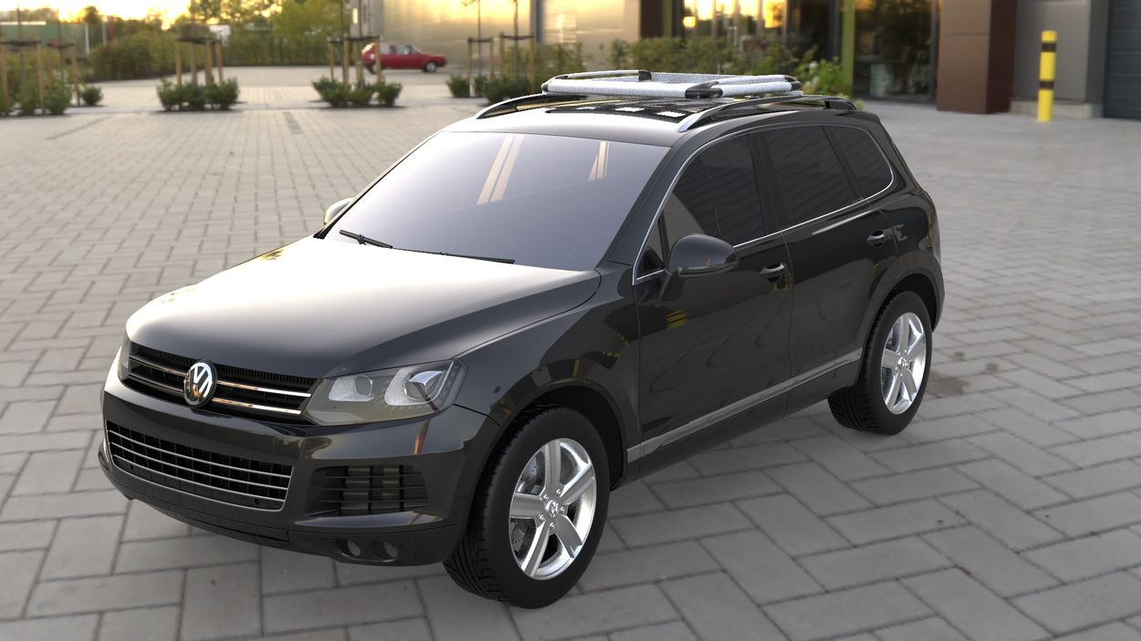 3D визуализация Opel Mokka 2012↗ gg Trunk with cross-beams and the grid (100cm to 120cm) фото 0°