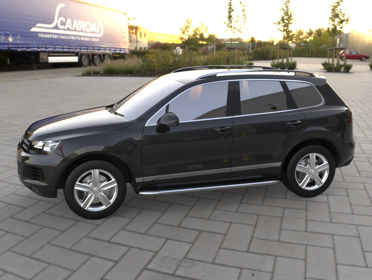 3D визуализация Volkswagen Touareg Laterale kituri de corp Maydos V2 фото 36°