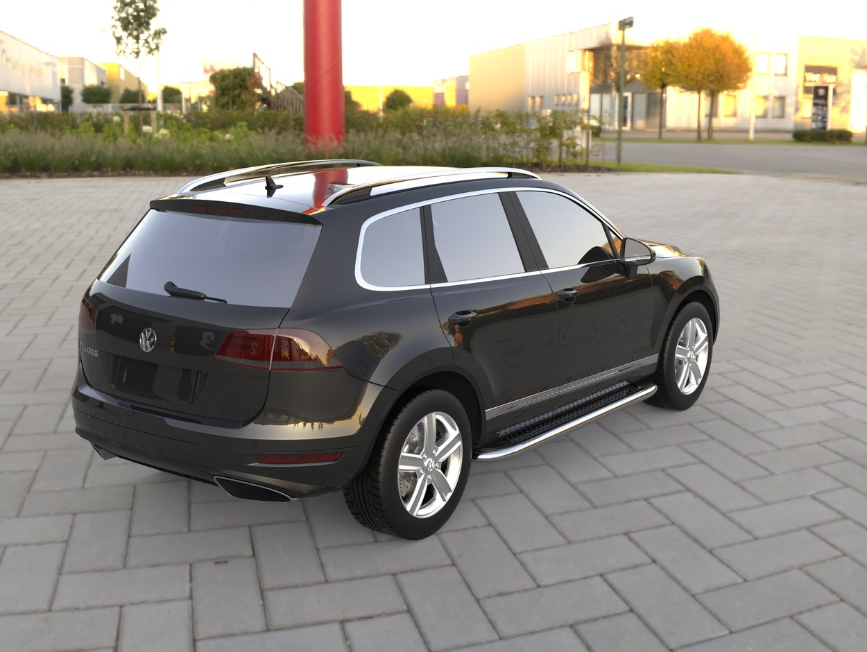 3D визуализация Volkswagen Touareg Laterale kituri de corp Maydos V2 фото 180°