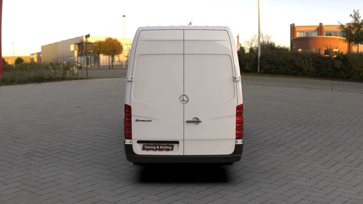 3D визуализация VW Crafter covers for mirrors (plastic) фото 180°