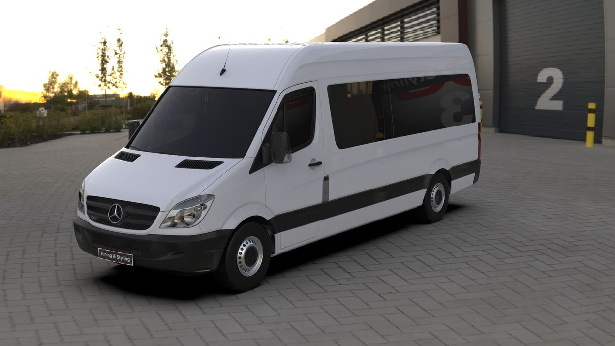 3D визуализация Mercedes Sprinter 906 Chrome touche sur un réservoir de Кармос фото 36°