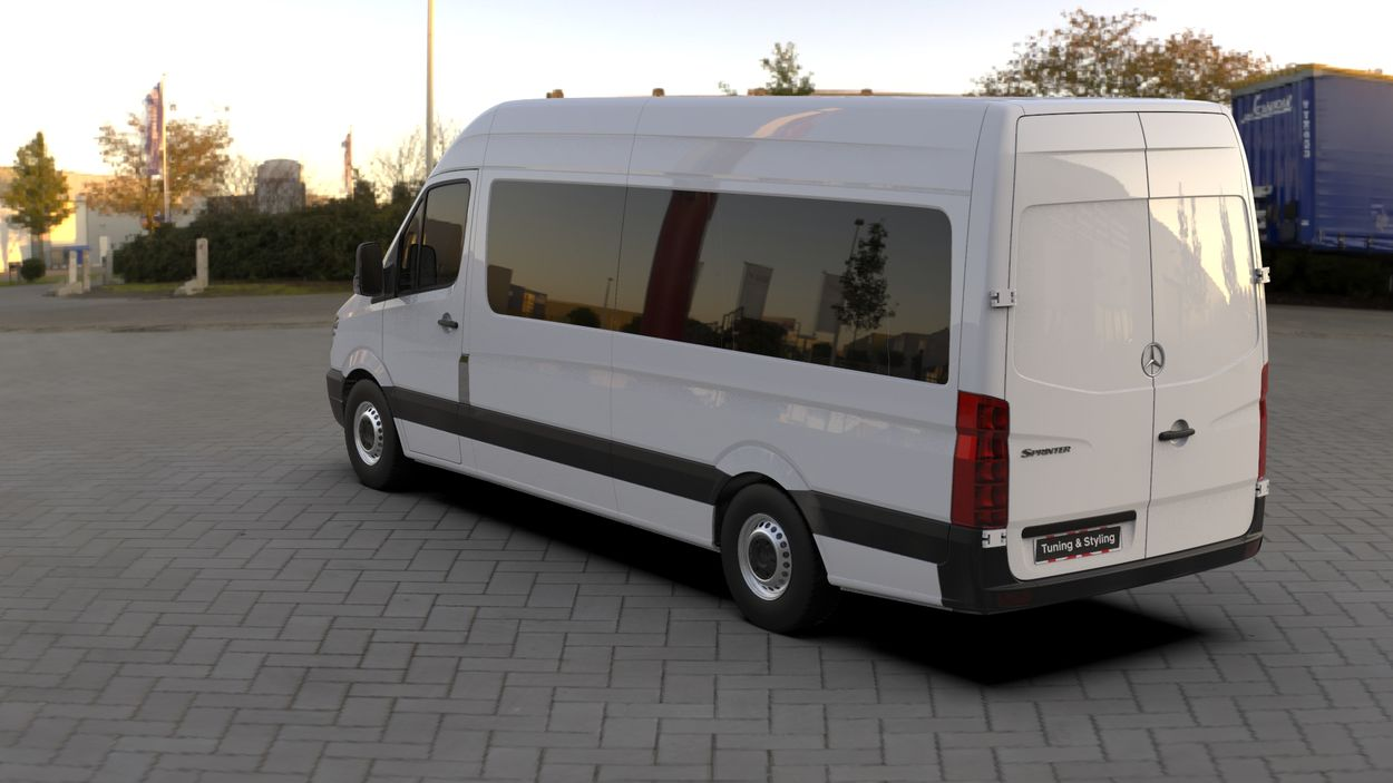 3D визуализация Mercedes Sprinter 906 Chrome touche sur un réservoir de Кармос фото 144°