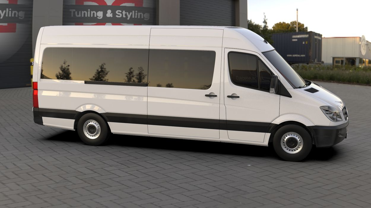 3D визуализация Mercedes Sprinter 906 Chrome touche sur un réservoir de Кармос фото 288°