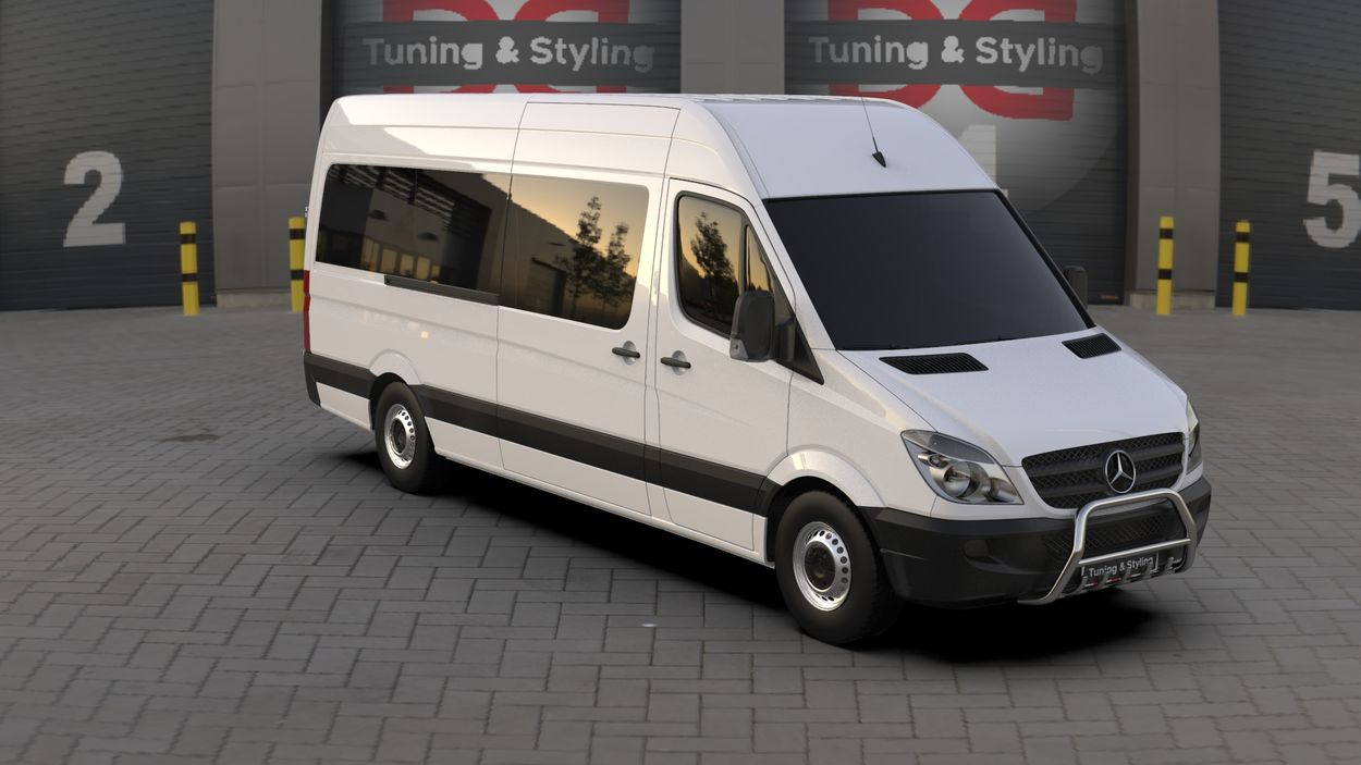 3D визуализация Кенгурятник Mercedes Sprinter WT003 фото 0°