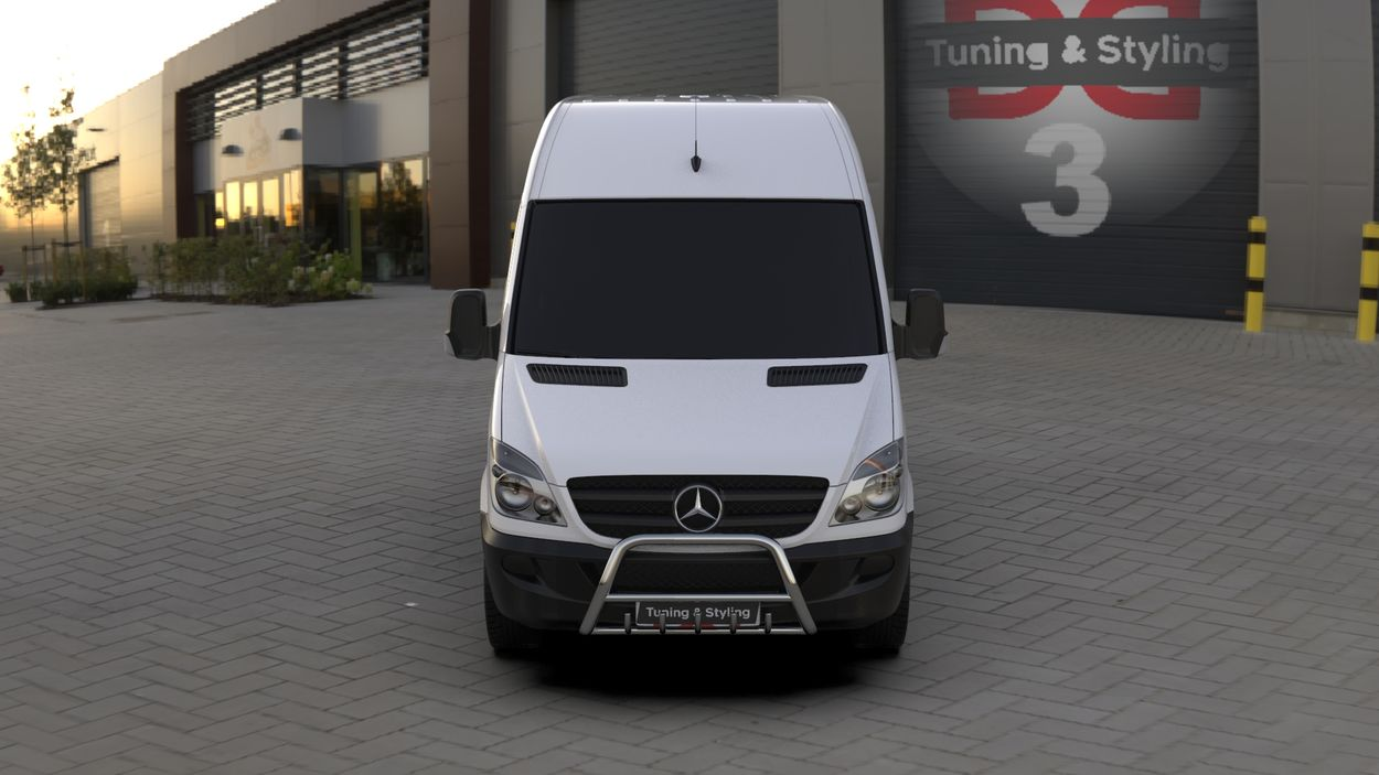 3D визуализация Кенгурятник Mercedes Sprinter WT003 фото 36°