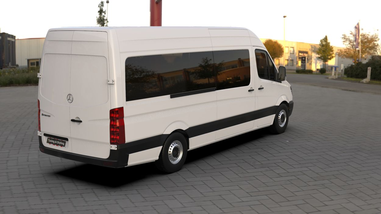 3D визуализация Кенгурятник Mercedes Sprinter WT003 фото 252°