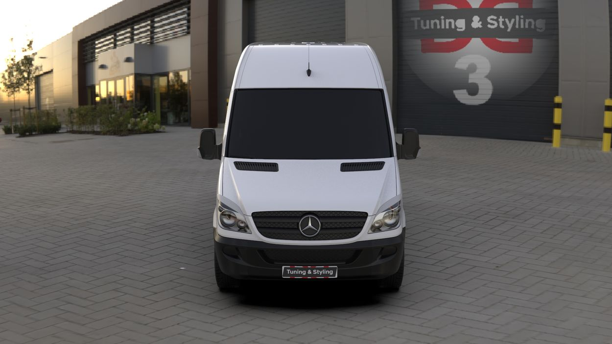 3D визуализация Merecedes Sprinter 906 Wimpern Straight ABS 2006-2013 фото 0°